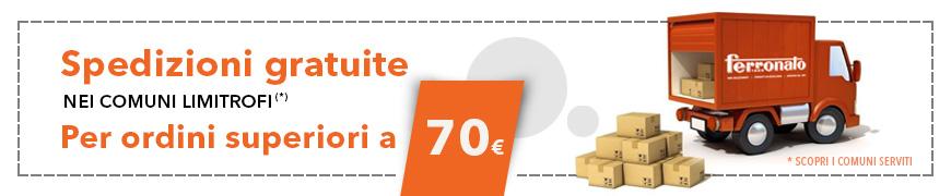 Spese di consegna gratuite per ordini superiori a 70 euro
